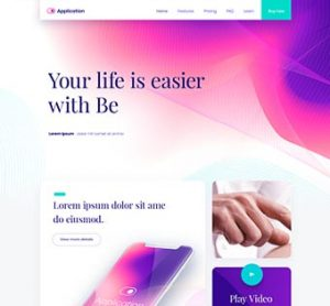 Be App – Theme Onepage App