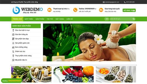 Mẫu Website về Dược phẩm