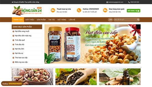 Mẫu Website Nông Nghiệp