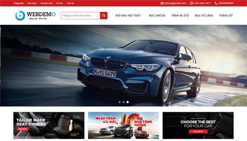 Salecar – Mẫu Website bán Xe Ôto