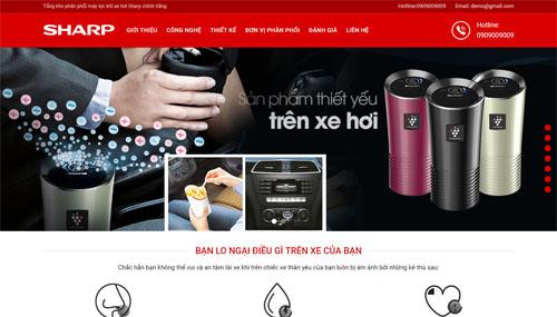 Mẫu Website Máy Lọc Khí